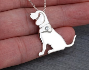 Beagle Handcrafted sterling silver necklace