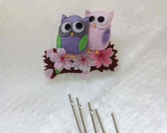 owl baby mobile Nursery decoration ,Nature Mobile,Baby Mobile Hanging Felt Mobile,Crib Mobile wind bell