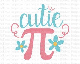 cutie pi SVG - cutie pi cut file - girl SVG - girl cut file - pi SVG - pi cut file