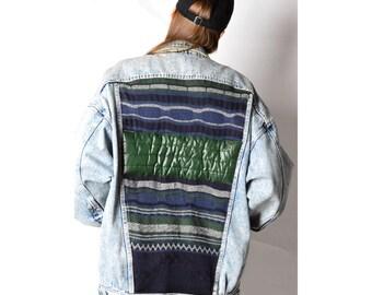REWORKED KALEIDOO Vintage 80s Smithys Denim Jacket 28_280217_G