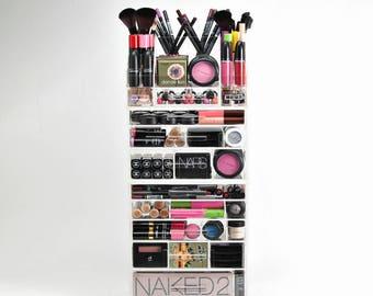 Acrylic Makeup Organizer 8 Drawer Storage plus Storage Modular Tray - Makeup Organizer - Makeup Storage