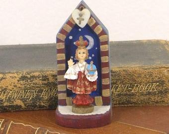 L'Enfant, Tiny Nicho Shrine, Jesus, Artist made, Collection