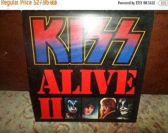 Save 30% Today Vintage 1977 LP Record Kiss Alive II Two Record Set Excellent Condition with Original Book 5014