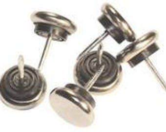 678 nickel plated rubber chair glides no