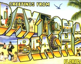 Daytona Beach FL, Large Letter Greeting REPRO Postcard Z528506