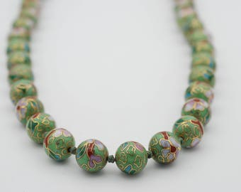 12mm Cloisonne Round Beads, 42 pcs per strand