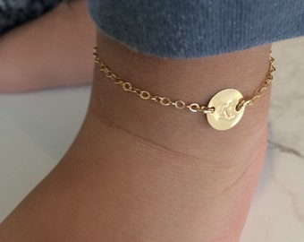 personalized baby anklet initial anklet 14k gold filled letter christening jewelry baptism new baby anklet letter anklet initial bracelet