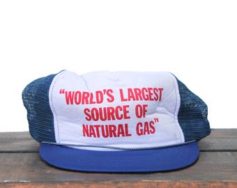 Vintage Distressed World's Largest Source Of Natural Gas Fart Jokes Funny Trucker Hat Snapback Baseball Cap