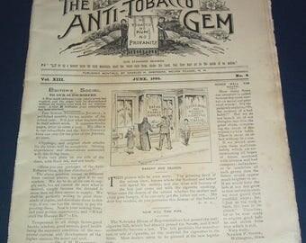 June 1895 Anti-Tobacco Gem magazine