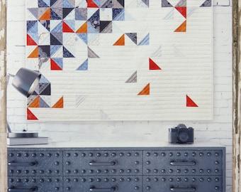 Throwing Quilt Pattern - Zen Chic - Brigitte Heitland - Moda - True Blue - TRQP