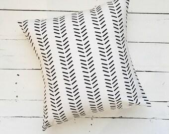 Dash Stripe Modern Throw Pillow Cover