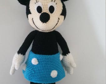 Minnie Mouse- Handmade crochet doll birthday gift, Baby shower toy.