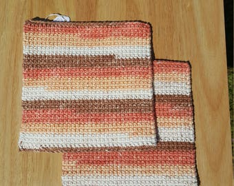 Pot holders (natural stripes), kitchenware, kitchen and dining, home and living, cookware, hot pad with hanging loop