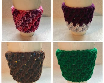 Crochet Cozy, crochet cozie, crochet mug sleeve, travel mug sleeve, travel mug cozie, travel mug cozy, to go cup sleeve