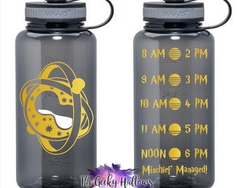 Time Turner 34oz Water Bottle - Hydrate - Inspired - Fandom - Hydrate - Gifts - Water - BPA Free