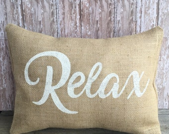 Burlap Relax Pillow Cover 12x16
