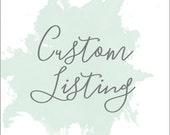 Custom Listing for Nicki Sinclair
