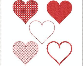 Small Heart Designs - 17 designs/sizes