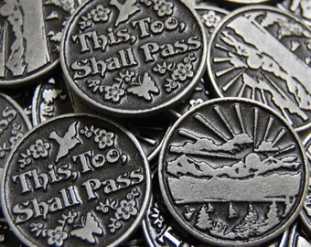 This Too Shall Pass Pocket Tokens - SET OF 10