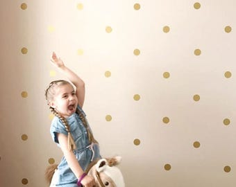 Gold Circle Wall Decals 2 Inch