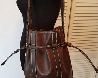 Clearance...Rare Large LANCEL Leather Bucket Tote Handbag...Sold as is.
