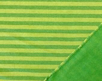 "Cuddly sweat ""stripes"" green"