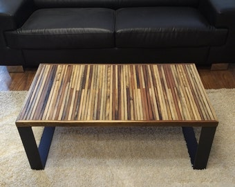 Steel Leg Coffee Table, Reclaimed Wood Coffee Table