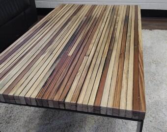 Reclaimed Wood Coffee Table, Rectangle Coffee Table, Barnwood Coffee Table, Steel Leg Table