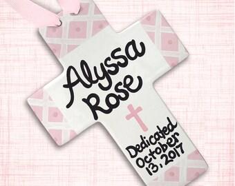 Baby Dedication Gift - Baptism Gift Girl - Baptism Cross - Naming Dedication - Personalized Baptism Cross - Baby Dedication - Baptism Gift