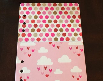 Clouds and Hearts A5 Pocket Folder