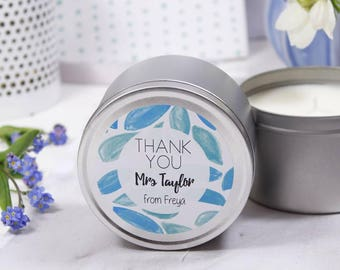 Teacher Thank You Scented Tin Candle - Thank You Teacher Gift - Thank You Candle - Teacher Gift - Teacher Candle