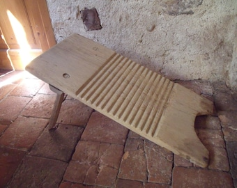 French authentic wooden washing board , antique ; 30's ; very nice condition ;