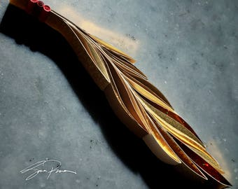 "SALE!! Quilled Paper Art: ""Feather"""