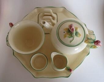 ROYAL WINTON Rosebud Breakfast Set - Fabulous Condition - Cream Color