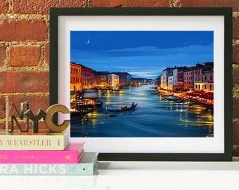 Venice Italy Art, Venice Italy, Venice Print, Venice Art Print, Italy Art Print, Italy Wall Art, Italy Poster, Venice Italy Poster