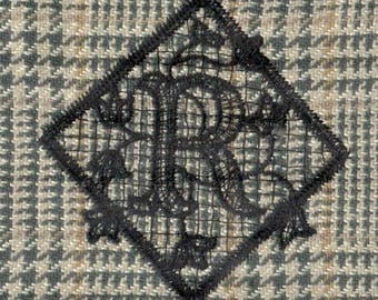 EMBROIDERYARTS Lace Monogram Set 1/Machine Embroidery designs on 2Floppy Discs
