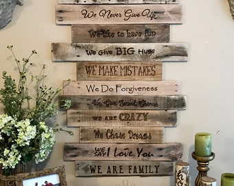 Family Sign/Family/Wood Signs/Signs/Wood Wall Art/Farmhouse Decor/Rustic Home Decor/Mom GIft/Custom/Wood/Wall Decor/Home Decor/Rustic/Wood