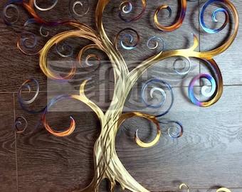 Tree of Life Swirly Tree Wall Decor Wall Art