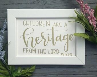 Nursery Print, Custom Text Nursury Art, Hand Lettered Frameable Print, Custom Nursery Decor, Handmade Art, Baby Shower Gift, Scripture,Quote