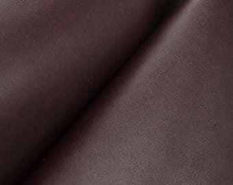 "Pre-cut Eggplant Leather Oil Tan Cow Hide 4""x 6"" Project Piece 5-6 oz smooth DE-52802 (Sec. 7,Shelf 6,A,Box 3)"