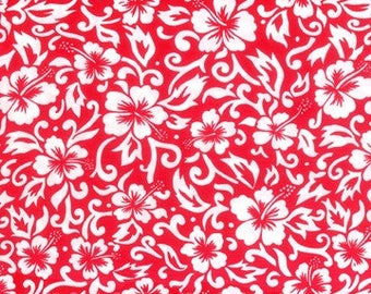 Hoffman Pareau Red - Hawaiian Fabric by the yard