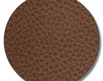"Football leather textured HEAT TRANSFER vinyl sheet brown faux leather  15""x12"""