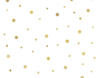 Gold Glitter Polka Dot Pattern