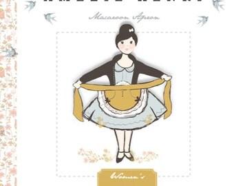 Women's Macaroon Apron Sewing PDF Pattern - Apron Pattern