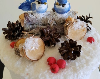 Wedding CakeTopper with Lovely Birds Bride and Groom Wedding Cake Topper Birds Wedding Cake Topper