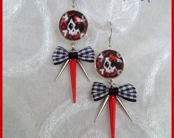 Boucles d'oreilles *Skull Carotté*