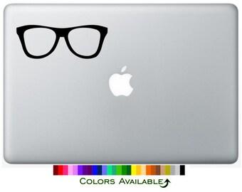 Nerd Glasses Laptop Decal