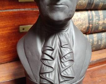 The George Washington  Black Basalt Wedgwood Bust