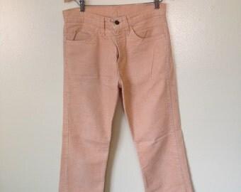 Lite Peach Levi's Corduroy Pants S 30