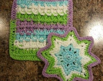 Crocheted Dishcloth/Hotpad